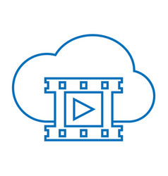 Cloud video storage vector
