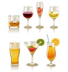 cocktails and drinks vector image