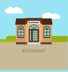 colored restaurant building vector image