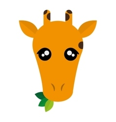 Cute giraffe cartoon icon vector image