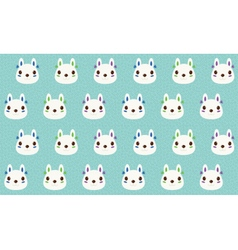 Cute Rabbit pattern background vector image