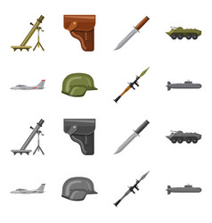 Design of weapon and gun icon collection vector