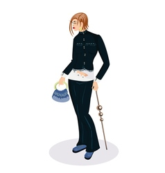 Elegant girl with a small bag vector image