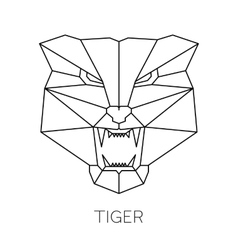 Fashion of tiger head print vector