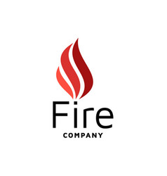 fire flame logo design inspiration vector image