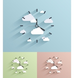 Flat clock background Eps10 vector