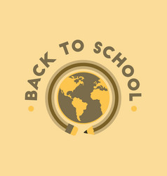 Flat icon on background back to school globe vector