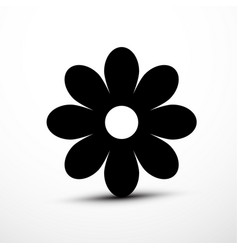 Flower icon plant symbol vector