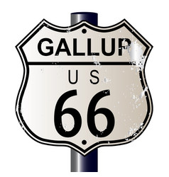 Gallup route 66 sign vector