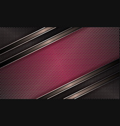 Geometric background of pink hue with metal grille vector