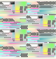 glitch seamless pattern art digital abstract vector image