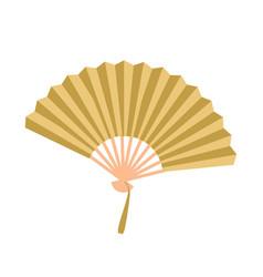Golden open fan isolated on background fan vector