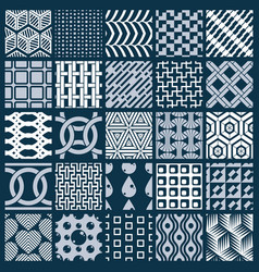 graphic vintage textures created with squares vector image