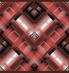 greek striped geometric 3d seamless pattern vector image