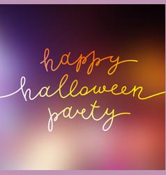 happy halloween party vector image