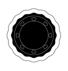 Hearts love card icon vector