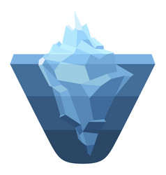 iceberg blue icon climate environment vector image