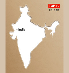 India map indian maps craft paper texture empty vector