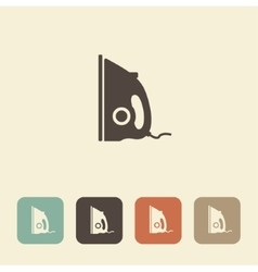 Iron icon vector