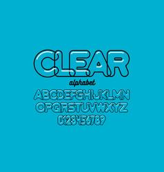 modern transparent font design alphabet letters vector image