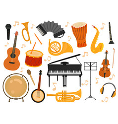 Musical instruments sound toys music instrument vector