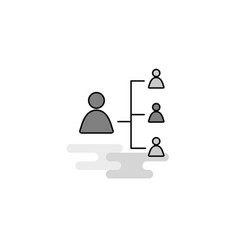 networking web icon flat line filled gray icon vector image