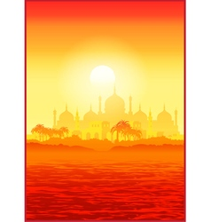 Old Middle East city vector