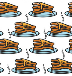pancake with maple syrup canadian breakfast vector image