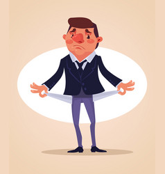 poor office worker character vector image
