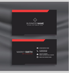 professional black business card design vector image