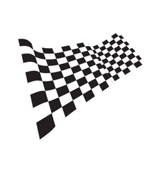 race flag icon template design vector image