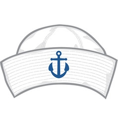 Sailor hat vector image