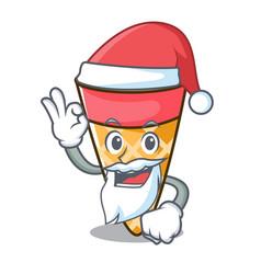 santa ice cream tone mascot cartoon vector image