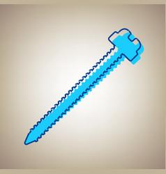 Screw sign sky blue icon vector