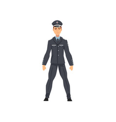 Security police officer professional policeman in vector