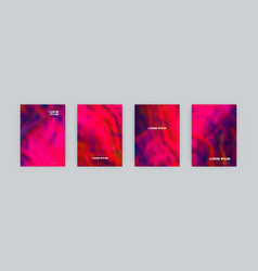 set cover templates in pink acid colors vector image