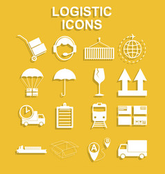 simple logistics icons set vector image