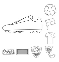 soccer and gear logo vector image