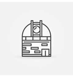 Space observatory icon vector