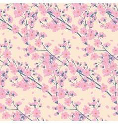 Spring seamless background vector image