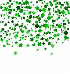 st patricks day background made four leaf vector image