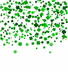 St patricks day background made of four leaf vector