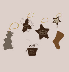 tag merry christmas icons for web design isolated vector image