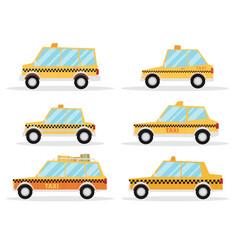 Taxi car set flat design vector