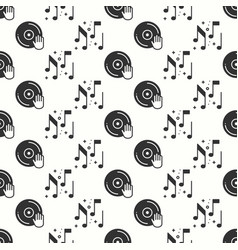 Vinyl record disco dance nightlife seamless vector