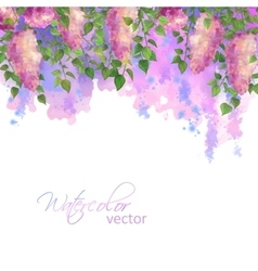 Watercolor Spring vector