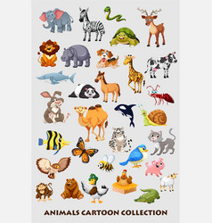 animals-set vector image