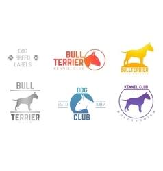 design logotypes labels set of bill terrier god vector image vector image