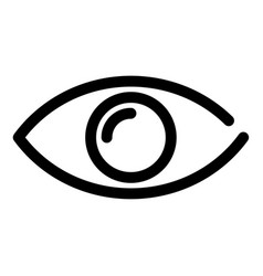 eye icon symbol of preview or searching outline vector image vector image
