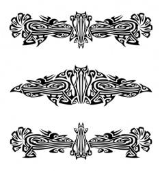 heraldry crests vector image vector image